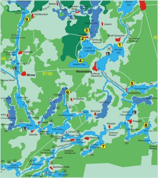 Mecklenburgische seenplatte kanu camping